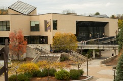 A view of the Feinberg Library.
