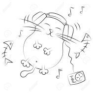 17970347-thick-contented-cat-listening-to-music-illustration-Stock-Vector